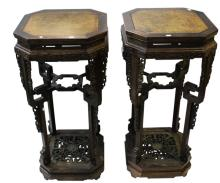 Stunning Pair of Chinese Torcheres,