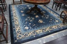 Chinese Wool and Silk Rug,