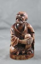 Chinese Stained and Carved Ivory Figure,