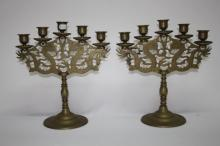 Pair of Chinese Candelabra,