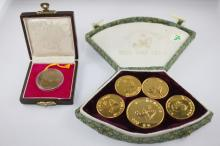 Five Chinese Medallions Commemorating