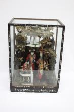Chinese Republic Dolls in Diorama,