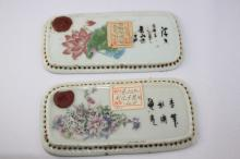 Pair of Chinese Porcelain Plaques,
