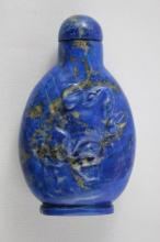 Chinese Lapis Lazuli Snuff Bottle and Stopper,