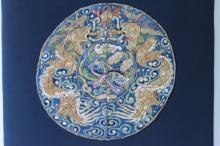 Chinese Qing Dynasty Double Dragon Insignia,