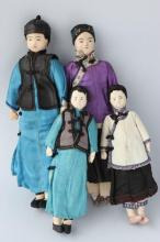 Four Chinese Antique Dolls,