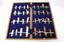Chinese Ivory Chess Set and Board,