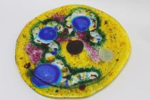 Studio Art Glass Plate,