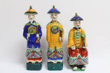 Three Chinese Porcelain Figures,
