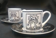 Keith Haring (1958 - 1990) After: 2 x  Espresso Cups (Mono)