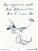 Tracey Emin R.A. (b. 1963): You Inspire Me .. Paralympic Poster