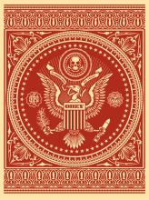 Shepard Fairey (b. 1970): Presidential Seal (Red)