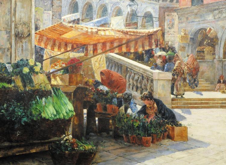 Richard lipps 1857 1926 march sur le pont du rialto - Marche de l art de la table ...