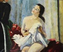 CHARLES KVAPIL  (Anvers 1884-1957 Paris) Le réveil, ca. 1925-1930