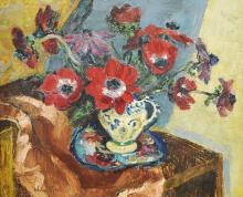 HANS JOSEF WEBER-TYROL (Schwaz 1874-1957 Merano Appiano Tyrol) Bouquet de fleurs