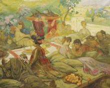 HENRY CARO-DELVAILLE  (Bayonne 1876-1926 Paris) « Baccanale », ca. 1912