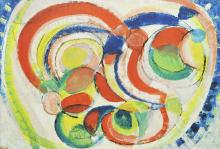GUSTAVE BOLIN  (Stockholm 1920-1999 Antibes) Composition de cercles, 1960