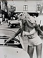 WILLY RIZZO (1928) Brigitte Bardot. Photographie noir et blanc, tirage argentique d'époque. Provenance: Cachet au dos d'André Emmerich, New York (1924-2007), important Marchand d'Art de New York qui était spécialisé dans les artistes des années