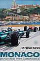 MICKAEL TURNER (XXème) 24ème Grand Prix de Monaco 1966. Affiche lithographique originale couleur. Editions Jacques Ramel, Nice. Etat A+