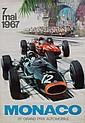 MICHAEL TURNER XXème Grand Prix de Monaco, 1967. Affiche originale lithographique couleur. Editions Jaques Ramel, Nice