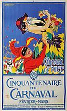 AFFICHE CARNAVAL DE NICE, 1928 Par F. Serracchiani