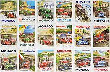 GRANDS PRIX AUTOMOBILE MONACO Cartes postales