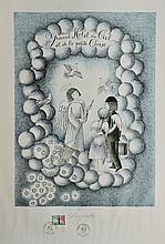RAYMOND PEYNET (1908-1999) Affiche « Grand hôtel du Ciel et de la petite Ourse »