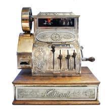 CAISSE ENREGISTREUSE  « CASH REGISTER NATIONAL » vers 1890