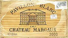 PAVILLON BLANC DE CHÂTEAU MARGAUX 2000 Bordeaux - Margaux - Second vin du Château Margaux