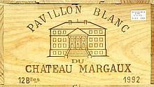 PAVILLON BLANC DE CHÂTEAU MARGAUX 1992 Bordeaux - Margaux - Second vin du Château Margaux