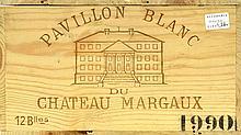 PAVILLON BLANC DE CHÂTEAU MARGAUX 1990 Bordeaux - Margaux - Second vin du Château Margaux