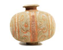 VASE « COCOON »  EPOQUE DYNASTIE HAN (206 BC-220 AD)