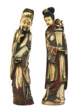 LE COUPLE AUX VASES, Chine ca.1900