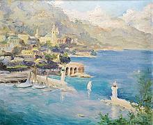 MARIE THERESE MARTIN (1923-1979) Vue de Monte-Carlo au début du 20ème siècle