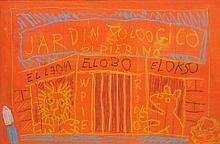 NIKOLAI ALEXANDROVICH BENOIS (1901-1988) Scène pour le Ballet « Pedro y el Lobo » de Serge Prokofieff
