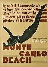 MONTE-CARLO BEACH L'ILLUSTRATION 30 Mai 1931