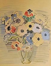 RAOUL DUFY (1877-1953) Bouquet de Fleurs «  Anémone »
