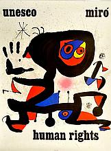 JOAN MIRO (1893-1983) Human Right, 1974