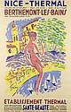 EMMANUEL  BELLINI (1904-1989) Nice-Thermal, Berthémont-les-Bains