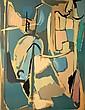 ANDRE LANSKOY (1902-1976)  Composition   Lithographie couleur sur papier  Signée en bas à droite et numérotée 91/125  Dimensions : 70 x 50