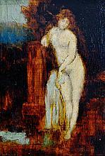 JEAN-JACQUES HENNER (1829-1905) Jeune femme à la fontaine