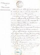 MAIRIE DE MONACO Lettre du Maire, le Comte Félix Gastaldi, 1880