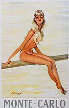 JEAN-GABRIEL DOMERGUE (1889-1962) La femme au plongeoir, 1960