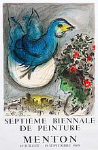 MARC CHAGALL (1887-1985) Septième Biennale de Peinture, Menton, 1968