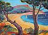 PIERRE AMBROGIANI (1907-1985) Paysage de Méditerranée