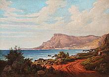 ECOLE FRANCAISE, 19ème siècle Vue de Monaco et la Tête de Chien depuis Cap Martin