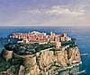 ROLAND MERTENS (Aix 1952) Vue du Rocher de Monaco