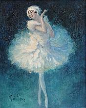 RENE PEAN (1875-1945) La Danseuse. Travail Belle-Epoque