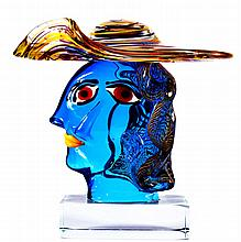WALTER FURLAN (Murano 1931) « Hommage à Picasso »