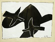 GEORGES BRAQUE (1882-1963) - « Les Oiseaux Noirs » 1957
